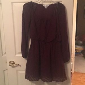Plum FALL dress with striped design